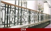 Decorative wrought iron porch hand railings designs