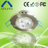 Ceiling LED Recessed Light Fitting, 3*1W, Electroplating Treatment