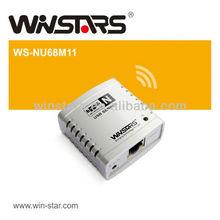 Networking wireless USB 2.0 print Server
