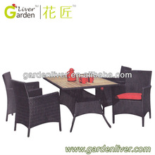 2012 New Fashion Aluminum Outdoor Rattan Furniture Dining Sets