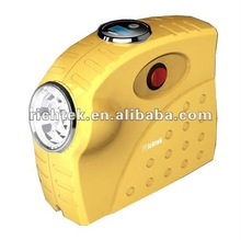 electric air pump for car and bike(RCP-C21A, DC12V, small size, LED light, tire inflator)