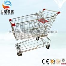 150 Liter electroplate Asian supermarket carts, supermarket shopping cart, supermarket cart