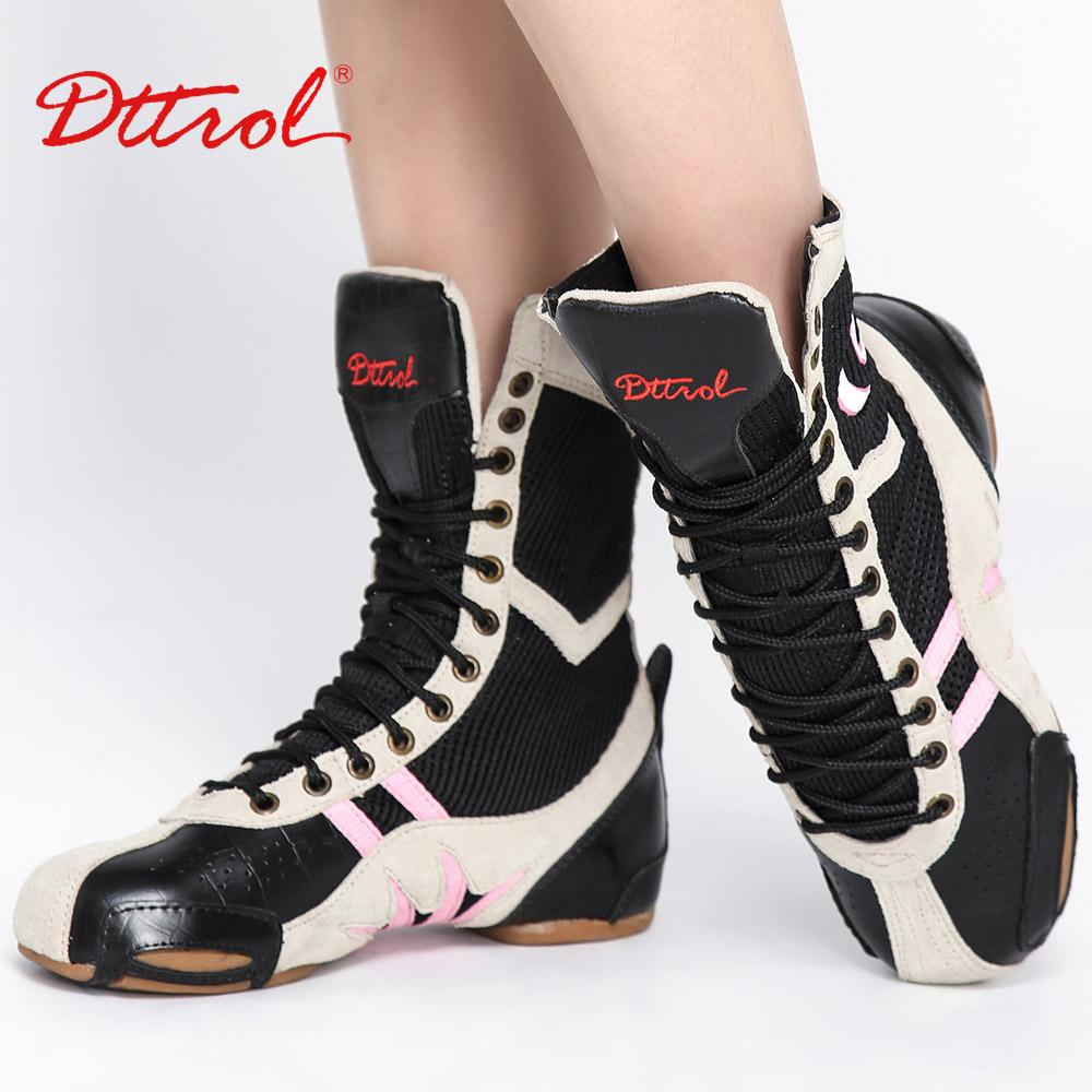 D004786 Fashionable fancy black jazz dance boots girls
