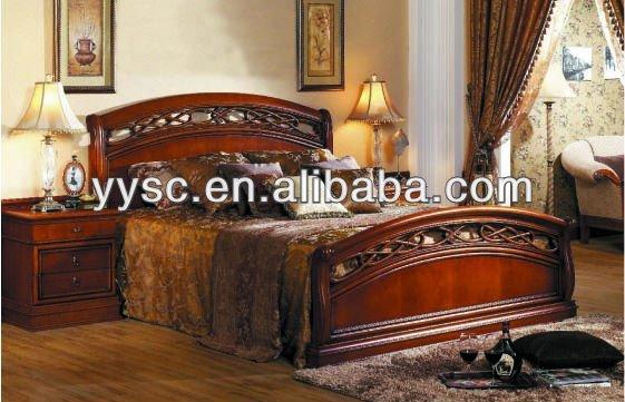 muebles del dormitorio king size cama de madera-Camas-Identificación