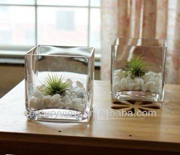 Vendita caldo chiaro cubo di vetro vaso vaso di vetro e - Como poner bloques de vidrio ...
