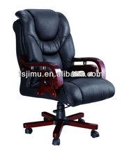 top grade black cow leather swivel chair modern design