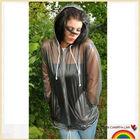 sex and women hooded PVC raincoat
