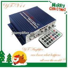 remote control mini car amplifier USB/SD/TF cardl mini car mp3 player amplifier YT-V11