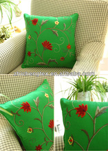 chain embroidered cushion for chair or sofa
