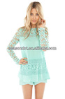 A Daisy design and scalloped hem Ladies crochet Blouse