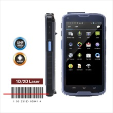 5 inch Android barcode scanner phone with 1d/2d barcode reader ,3G, wifi , gps, NFC/uhf