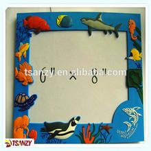 3D PVC photo frame, rubber picture frame, plastic photo frame
