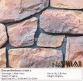 Artificial vermelho rocke rosto de pedra decoração da parede exterior 21006-a