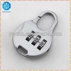 Metal zip code lock
