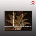 Japonés de hoja de plátano de oro/lámina de plata de pintura al óleo
