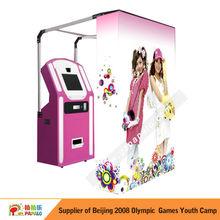Portable easily new creative fashion purikura photo vending machine event for fun'