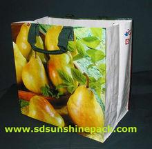 matt/glossy laminated pp woven bag shopping bag