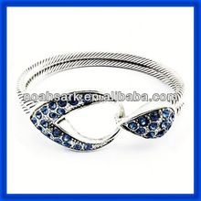 hot stainless steel bangle bracelets diamond