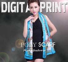 Scarf Other Scarves Shawls digital printing polyester scarf - W822
