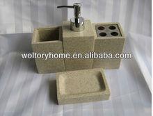 Artificial Stone 4 PC Bathroom Accessories Sets
