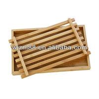 Square bamboo bread cutting board