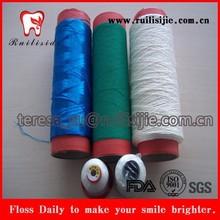 High Tension Terylene/Polypropylene/UHMWPE/High Polyester/Nylon/PTFE dental floss thread