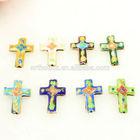 Assorted colors cloisonne cross