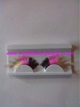 2013 new cosplay false strip eyelash colorful lace eyelash