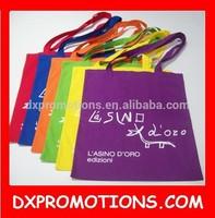 Cheap cotton handled shopping bag/color cotton shopping bag