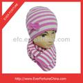 crianças chapéu de listras e conjunto de cachecol da criança chapéu e cachecol conjuntos