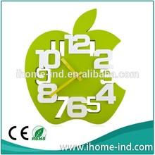 Apple shape funny plastic wall clock IH-3113