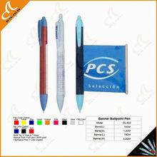2014 Best Selling logo biro pen, ad banner pen