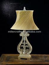 100W hotel decorative polyresin & metal table lamp
