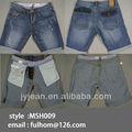 pantalones cortos de mezclilla azul jeans para hombres