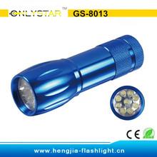 GS-8013 Bright 9 LED Mini Torch Economic flaslight Lamp Light