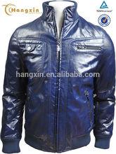 Italian trendy leather motorcycle racing jacket