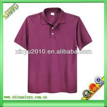 2014 latest fashion 95% cotton,5% spandex man polo t-shirt