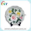 céramique plaque de la fleur