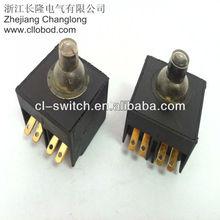 Long travel black angle grinder switch