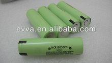 [18650 2900mAh]High Power Flat Top 3.6V li ion rechargeable battery for Panasonic NCR18650PD