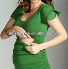 2014 Fashion Short Sleeve Maternity Nursing Top