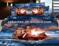 romantico blu oceano titanic con foto 100 cotone 3d effetto stampa lenzuola set