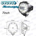 "7"" 12v h3 hid xenon work light 55w for headlamp"