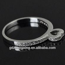 2014 Czech diamond jewelry ring rhodium