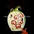 Zuhause dekorative blume und Schmetterlinge handgefertigte keramik lampe