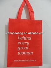 wenzhou silk screen printing non-woven shopping bag