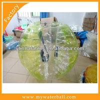 Yellow TPU Soccer Bubble/Bumper Ball/Body Zorbing Hot 2014