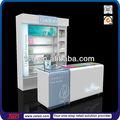 Tsd-w077 directa de la fábrica de encargo de gama alta de cosméticos de belleza diseño de la tienda/estante de exhibición cosmética/cosméticos tienda de muebles