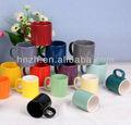 Venta al por mayor, taza cerámica promocional con glaseado de colores, de 5, 10, 11 oz