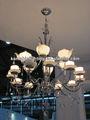 Moderna bule decorativo luminária de vidro com gotas de cristal( 1089s)